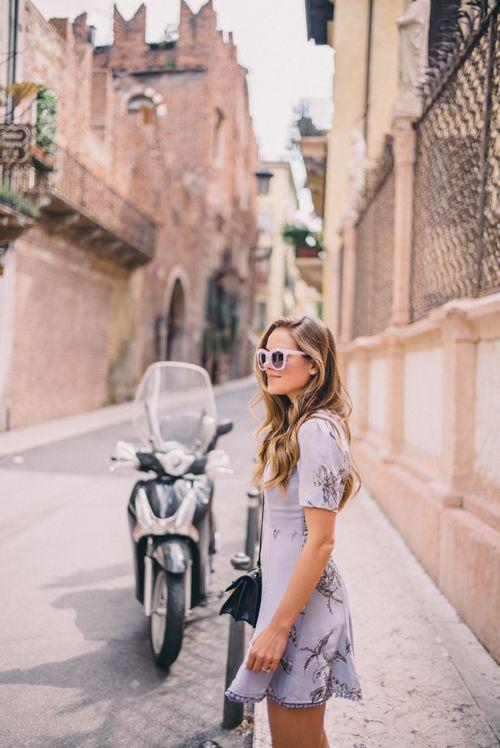 Gal Meets Glam Visiting Verona - Tularosa dress, Free People sunglasses and Miu Miu bag