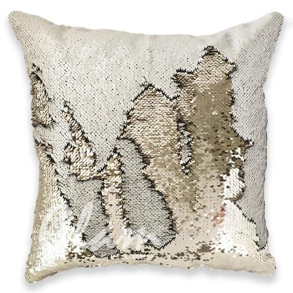 FREE SHIPPINGWORLDWIDE The Ivory& BeigeGlam Pillow adds the perfect touch of class and sparkle to your space, yet it's neutral colors are subtle enough t