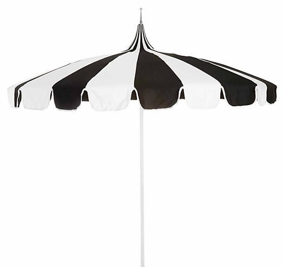 California Umbrella Pagoda Patio Umbrella - Black/White