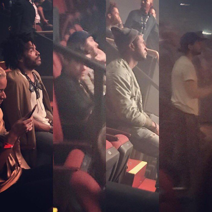 Harry Styles at  Kanye West concert