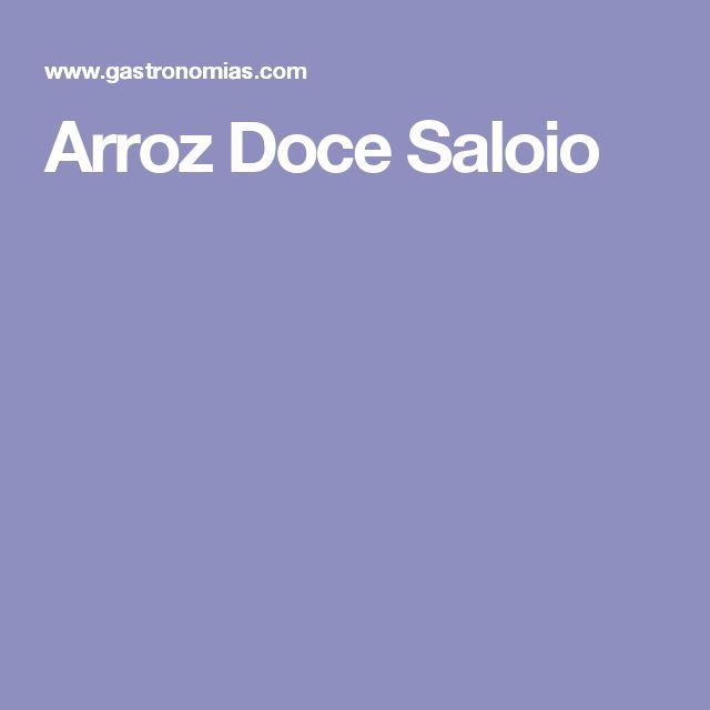 Arroz Doce Saloio