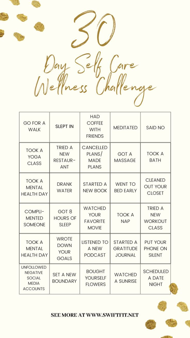 Wellness' 30 Day SelfCare Challenge (with Downloadable