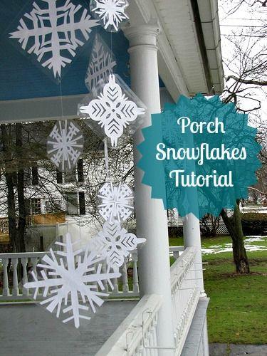 Porch Snowflakes Tutorial