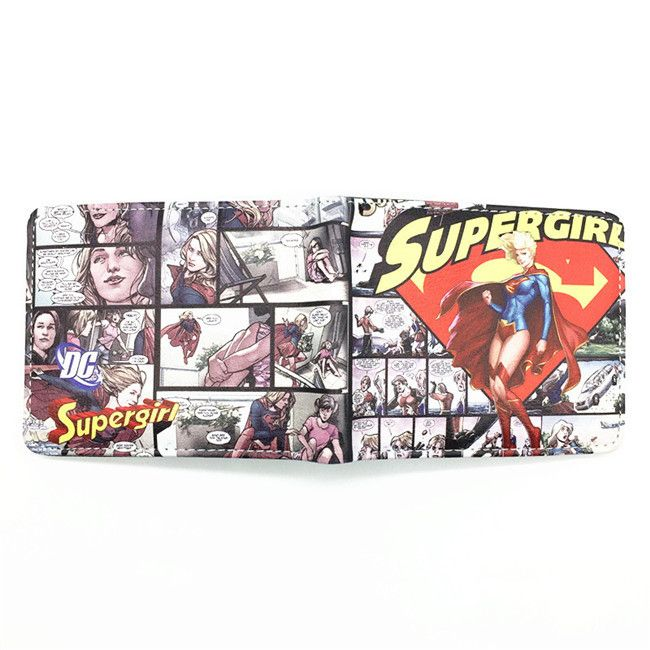 DC Comics The Superman Wallet Anime Cartoon Purse for Young Card Holder Wallets With Tag Dollar Price
