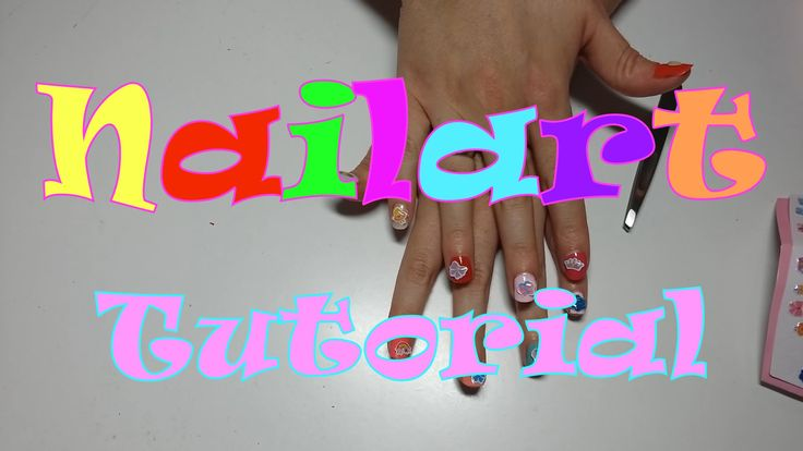 Nail Art Tutorial with colors and stickers!!!