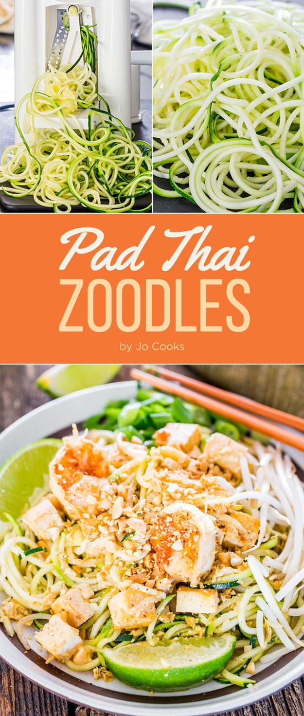 Zoodles! LOL. Swap traditional rice noodles for zucchini noodles (you'll need a spiralizer) for this lightened up dinner. If you don't have a spiralizer, shred the zucchini with your box grater. Get the recipe here.