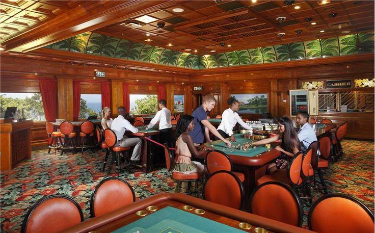 The plantation themed casino room.