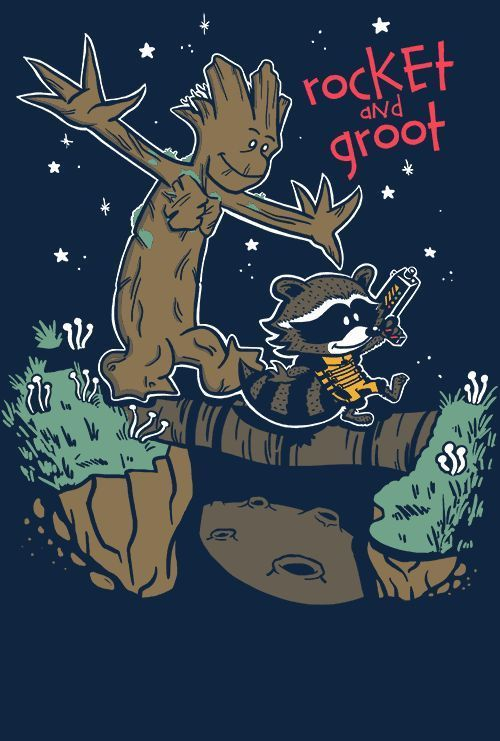 Guardians Of The Galaxy Rocket Groot Calvin Hobbes Limited