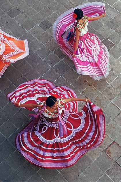 Mexico, I need to visit the Oaxaca people, their art is so unique and captivating! Oaxaca Dancers - Bob Krist