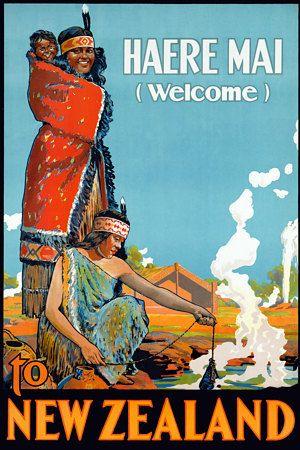 Vintage New Zealand Travel Posters Prints