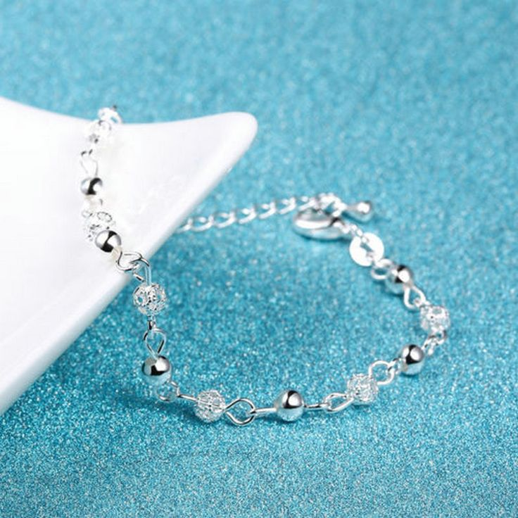 Summer Style Beach Anklets Silver Beads Ankle Chains Foot Chain Jewelry Anklets Foot Bracelets For Women Gift
