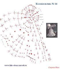 вязаные колокольчики схемы - Hledat Googlem