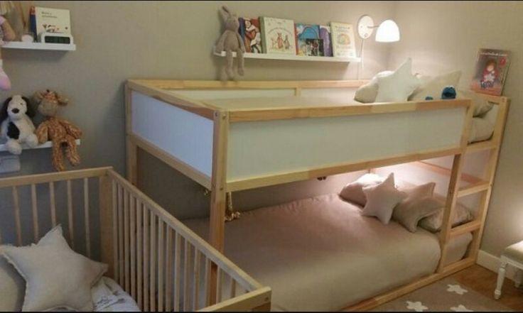 Litera kura compartida beliches quartos quarto bebe e quarto infantil - Cama infantil ikea ...