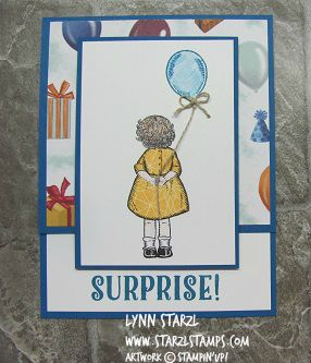 Birthday Delivery Bundle with paper piecing for the dress. http://www.starzlstamps.com/2017/06/birthday-delivery-stamp-set-bundle-baby-bear-stamp-set.html