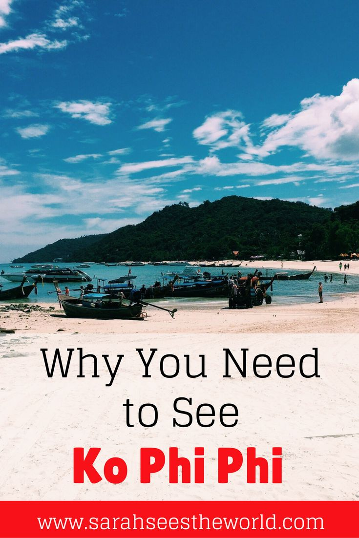 Our visit to Thailand wouldn't have been complete without a visit to Koh Phi Phi. We enjoyed snorkeling, boat rides, food, and incredible scenery. Check out why we're glad we went and how you can plan your trip to Koh Phi Phi in Thailand too! Make sure you save this to your travel board.
