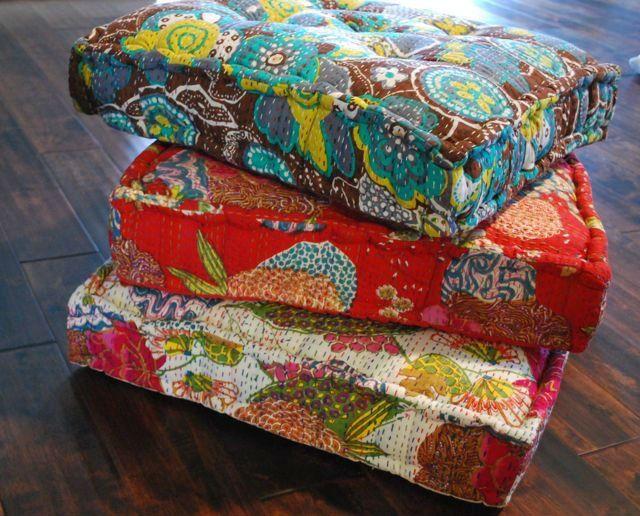 kantha floor cushions