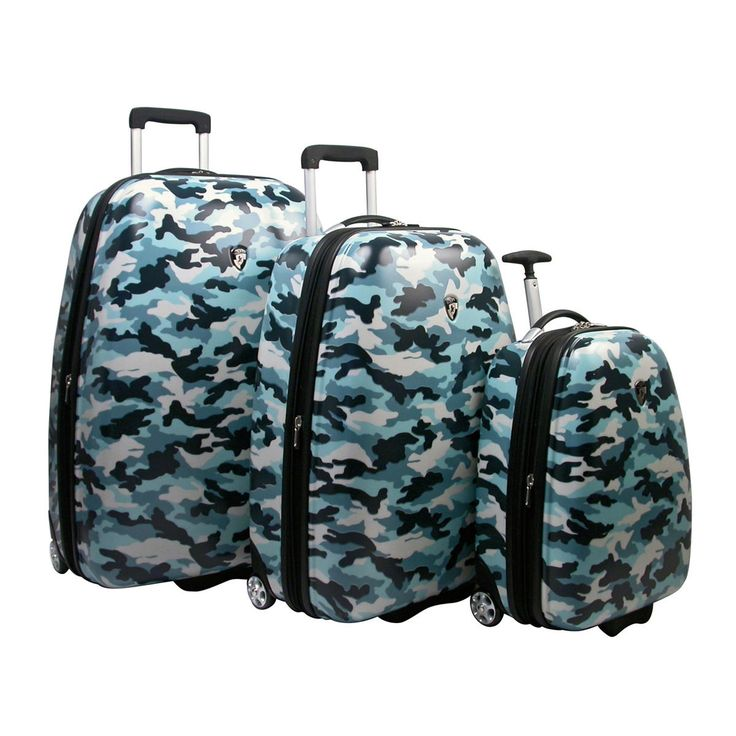 find it at the foundary blue camouflage 3 piece luggage set