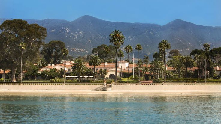 Four Seasons Resort - The Biltmore Santa Barbara,1260 Channel Drive, Santa Barbara, CA - With Pacific Ocean in the Foreground and Los Padres National Forest up on the mountain in the background