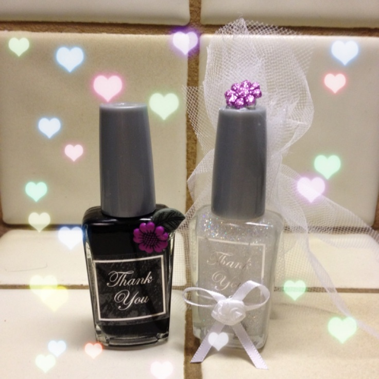 Bridal Favors Nail Polish Using Wedding Colors White Black Wet N Wild