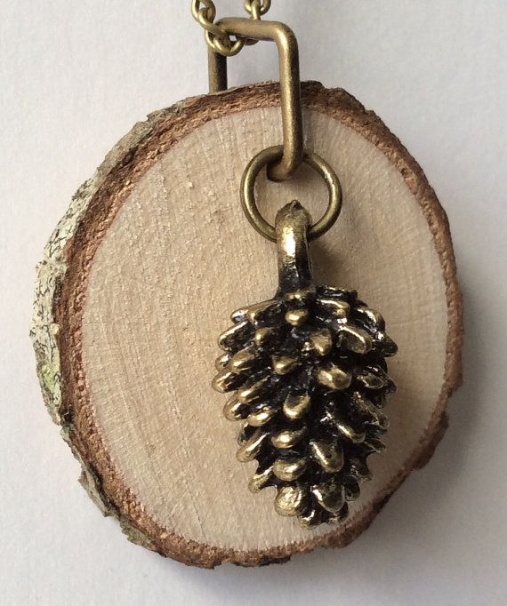 Pinecone Essential Oil Diffuser Necklace Made with Organic Wood by LowcountryEclectic $15.00 FREE SHIPPING!