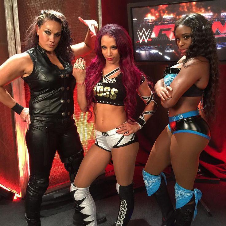 Look out WWE Divas' division. Sasha Banks (NXT Womens Champ)and Tamina Snuka and Naomi. #TeamB.A.D