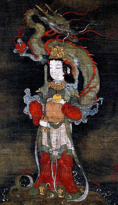 長谷川等伯 Tohaku Hasegawa『善女龍王図』七尾美術館蔵