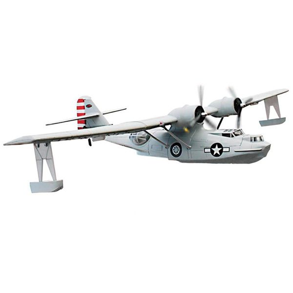 "Dynam PBY Catalina Grey V2 1470mm 57"" Wingspan RC Airplane PNP DY8943"