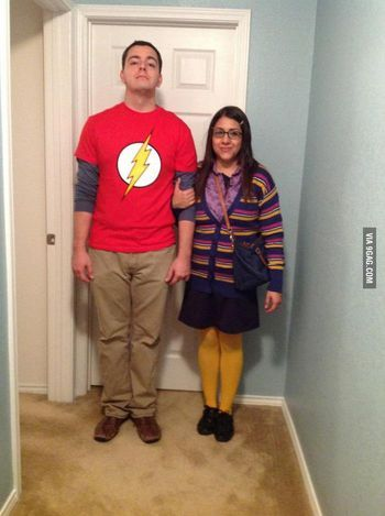DIY Couples Halloween Costumes...Yes!  I wish Seth would humor me and dress up.  Bazinga!