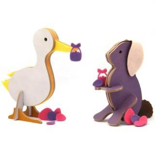 Sweet wooden animals from TopozooWooden Animal, Felt Bunnies, Spring Ducks, Wooden Piece, 4 5 Wooden, Bunnies Puzzles, Easter Gift, Easter Baskets, Topozoo Spring