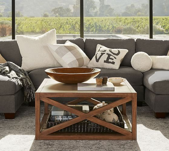 Grove Square Coffee Table Coffee Table Pottery Barn Decorating