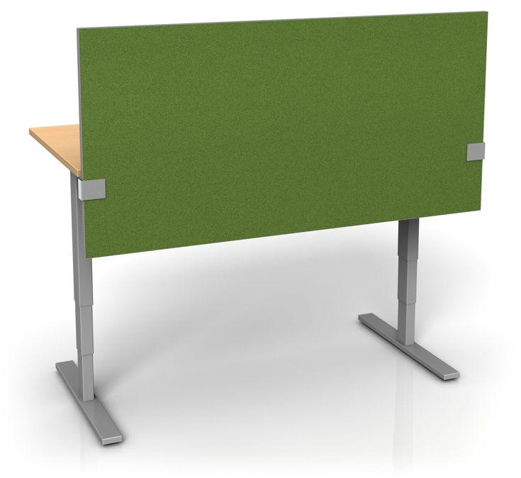 Fabric Height Adjustable Desk Divider For Office Design By Merge Works