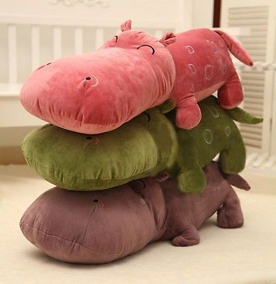 Cute New Year Gift Pillow Pets Soft Stuffed Plush Animal Toy Doll Hippo Doll