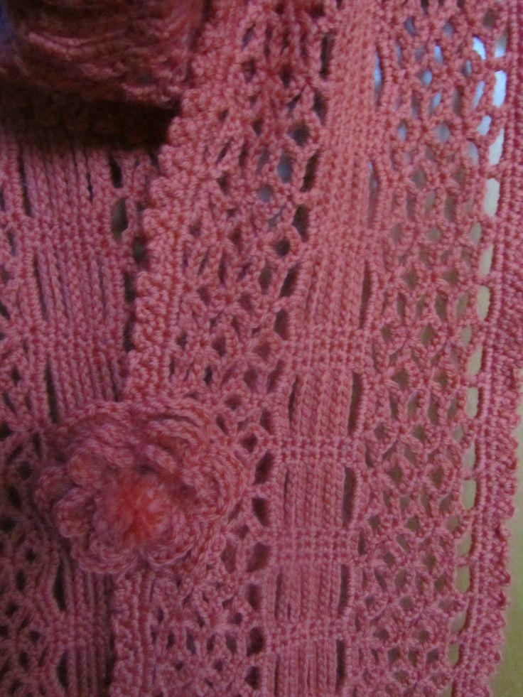 particolare punto sciarpa arancio