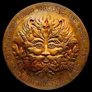 The Green Man - Often related to natural vegetative deities springing up in different cultures throughout the ages, the Green Man is a symbol of rebirth.