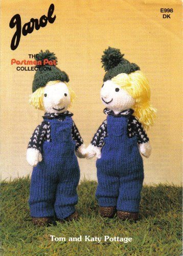 """The Postman Pat Collection: Tom Pottage and Katty Pottage Toy Doll Knitting Pattern (Doll Height 12"""" 30cm) by Jarol, http://www.amazon.co.uk/dp/B00393FH9E/ref=cm_sw_r_pi_dp_gKNitb0SN1B1N"""
