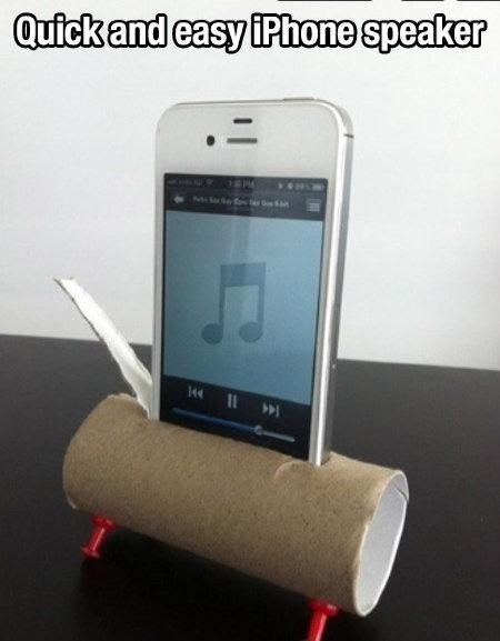 Toiler paper iPhone speaker