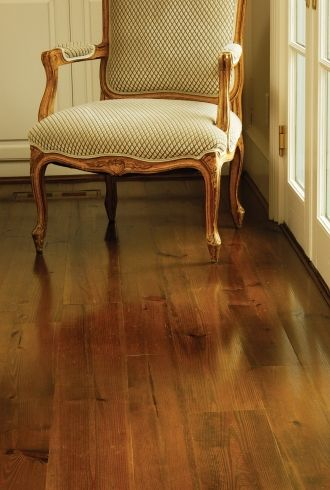 wide planked heart pine | Heart Pine Sitting Room