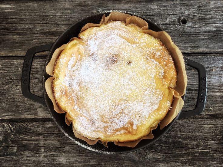 Cheesecake mit Pflaumenmarmelade
