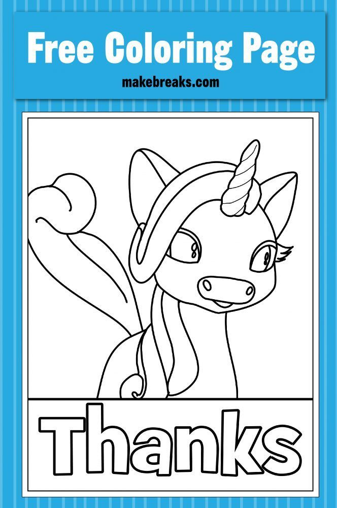 Thanks Thanksgiving Unicorn Coloring Page Make Breaks Unicorn Coloring Pages Free Coloring Pages Coloring Pages