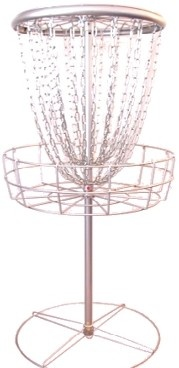 portable disc golf basket