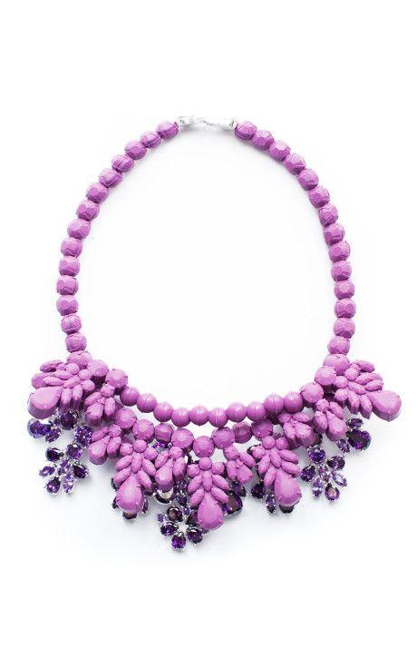 Purple Anna Necklace by Ek Thongprasert X Natasha Goldenberg for Preorder on Moda Operandi
