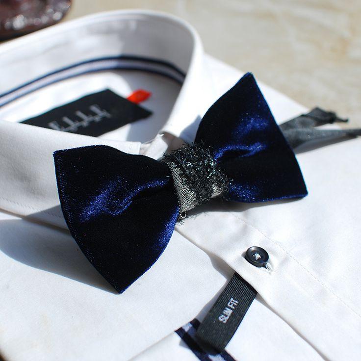 Мерлин Мерлин высокая-конец мода бархат дизайнерской серии ручной работы свадебный галстук галстук горшок подарок западноевропейских партии-Таобао
