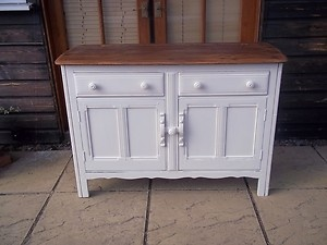 Vintage painted Ercol sideboard with beautiful wood top - refurbished with love by Fleur Vintage x
