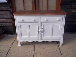 Vintage painted Ercol sideboard with beautiful wood top - refurbished with love by Fleur Vintage x