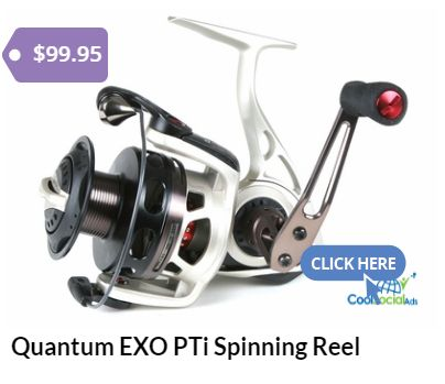 Quantum EXO PTi Spinning Reel for more details visit http://coolsocialads.com/quantum-exo-pti-spinning-reel-72516