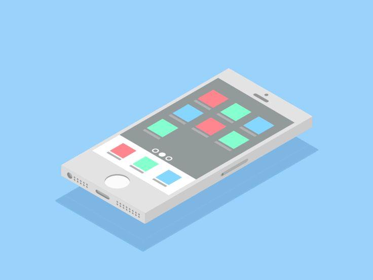 Isometric flat design iphone pedro aquino
