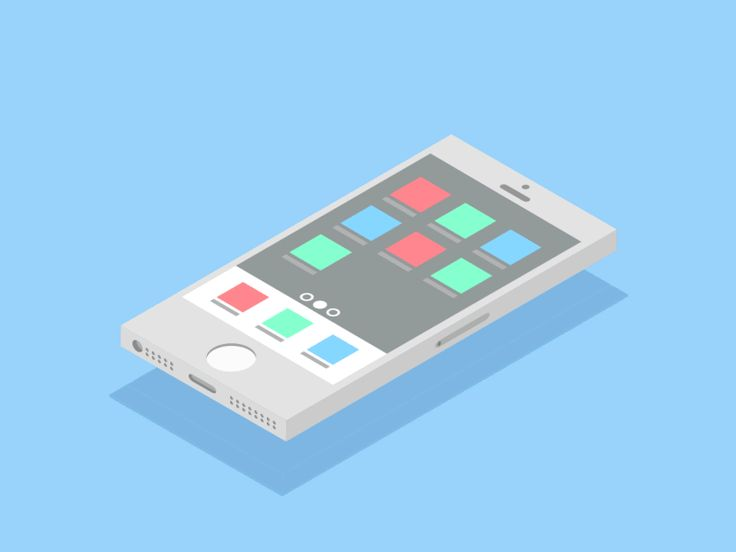 Isometric flat design iphone pedro aquino