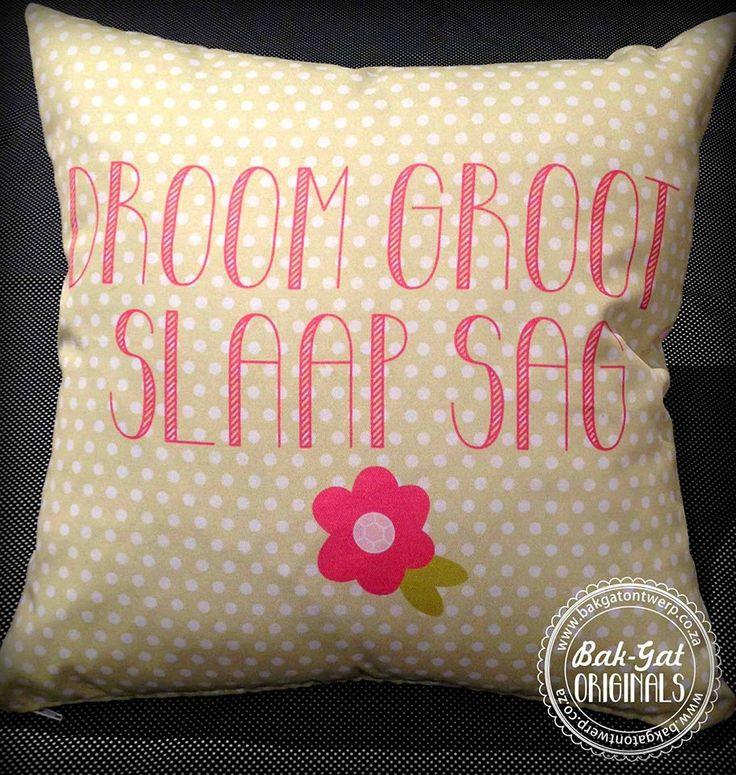 Dream big - sleep softly Personalised cushion