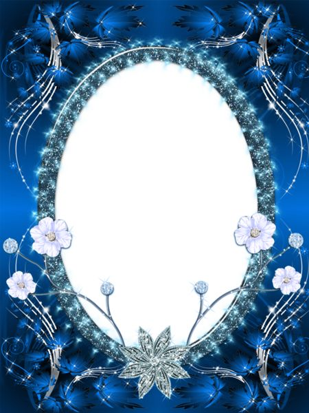 beautiful dark blue transparent png photo frame