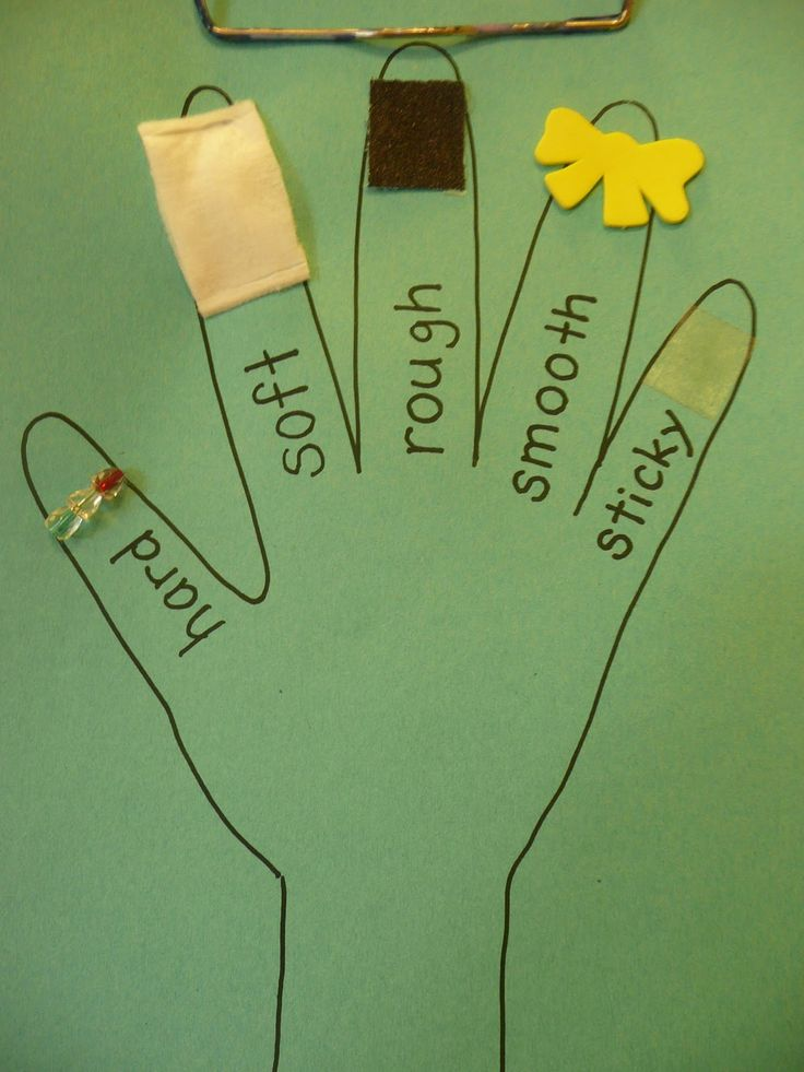 Here's another example of creating a sensory hand for learning about texture.